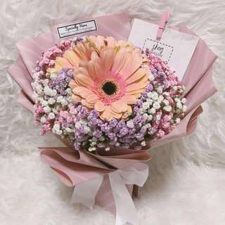 || Pink Daisies Bouquet || @ S.HERS