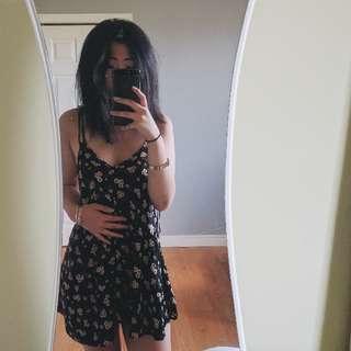 CUTE BLACK SUNFLOWER DRESS