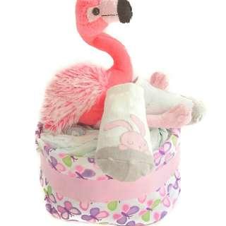 Flamingo Diaper Cake - Baby Shower