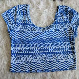 Ardene Aztec Print Crop Top