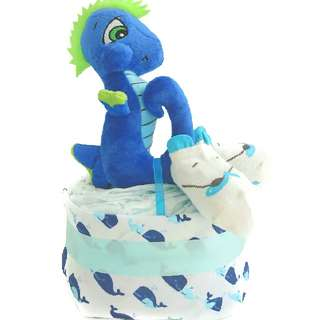 Seahorse Diaper Cake - Baby Shower