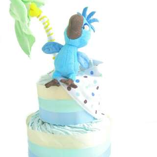 RIO - The Blue Parrot Diaper Cake - Baby Shower