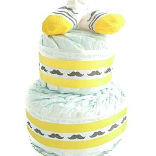 Diaper Cake Centerpiece For Baby Shower