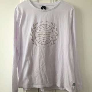 Huffer Long Sleeve White tee