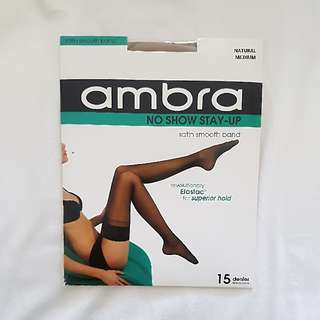 Ambra Stocking Thigh High Natural Medium