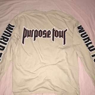 💯% authentic Purpose Tour long sleeve