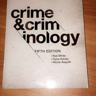 Crime and Criminology (5th Ed.)