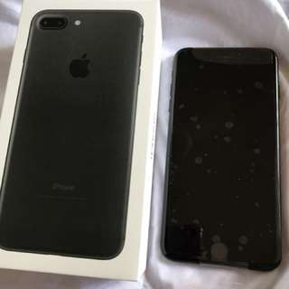 IPHONE 7+ 256 GB JET BLACK NEVER USED
