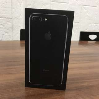 IPHONE 7+ 256 GB JET BLACK NEW NEVER USED