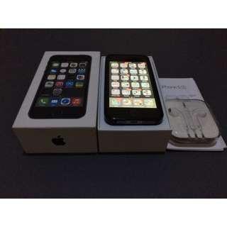 IPHONE 5S BLACK MULUS 32GB FULLSET BANYAK BONUS