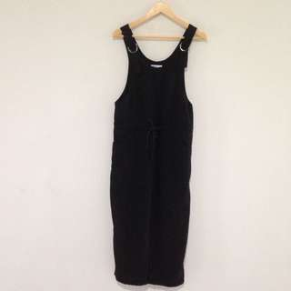 Valleygirl Black Overall Jumpsuit Size 8