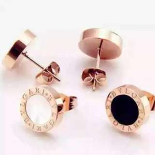 Bvlgari offer Rose Gold Black/ White Earring/ Inspired