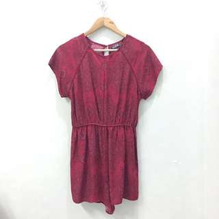 Cotton On Red Patterned Romper