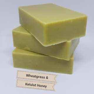 AMALIA Wheatgrass Kelulut Honey Skin-Rejuvenating Soap