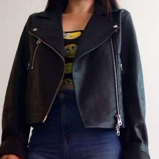 Small Signature Leather Motorcycle Jacket