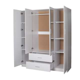 Brand new 4 doors 2 drawers with mirror wardrobe on sale