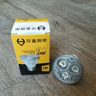 LED Light Bulb. GU10. 3W. White