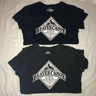BEAVER CANOE Tees (Dark Green+Black)