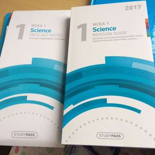 NCEA1 science revision guide and fold out notes