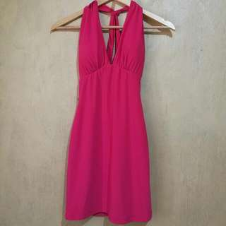 Forever21 Hot Pink Dress (with criss cross back detail)