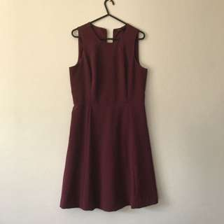 Tokito Maroon Dress Size 8