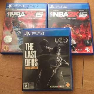 PS4 Games BUNDLE!! NBA 2k15, NBA 2k16, The Last Of Us Remastered