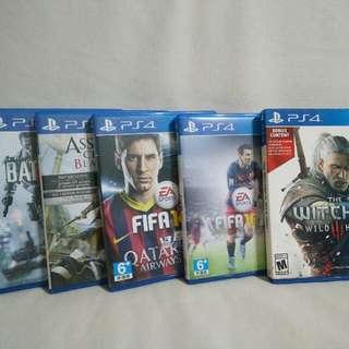 Assortment of PS4 games