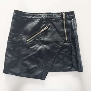 Sportsgirl XS PU Leather Skirt
