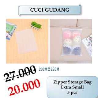 Cuci Gudang Zipper Storage Bag Extra Small