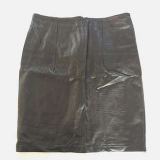 Immoni Size 12 PU Leather Skirt