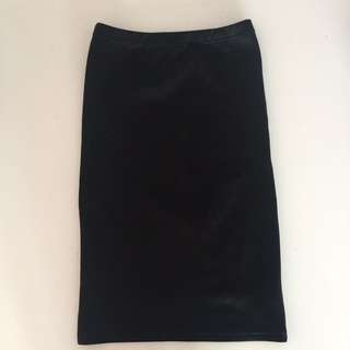 High Waisted Black Skirts Size 8
