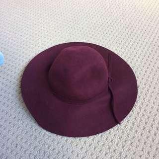 Maroon Fashion Hat