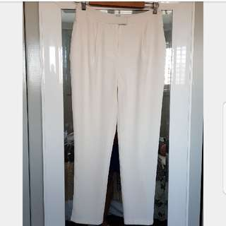 White Comfortable Fit Pants