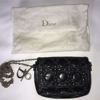 720d237b5348 Christian Dior Black Cannage Quilted Lady Dior Mini Cross Body Bag