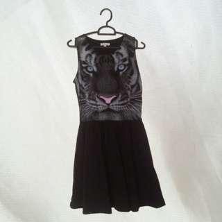 Colorbox Tiger Black Dress