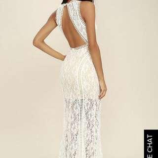 LULU*s in Black Floral, Vintage Look Maxi Dress BNWT