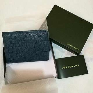 LONGCHAMP authentic cowhide leather compact mirror (with stand)