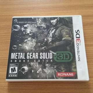 Metal Gear Solid Snake Eater 3D for Nintendo 3DS
