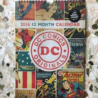 D.C. Comics 2016 Calendar