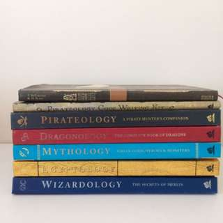 Wizardology, Egyptology, Mythology, Dragonology, Pirateology