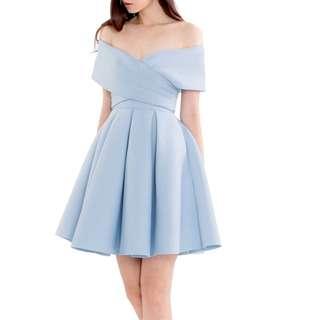 (Brand New Free Shipping) Doublewoot BO DERHAXY Powder Blue Dress
