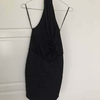 Blockout Black Backless Dress Size 8