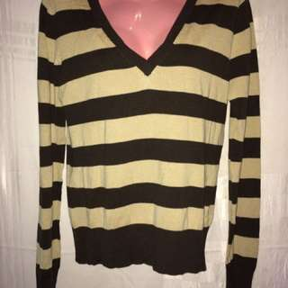 Brown Striped Long Sleeve