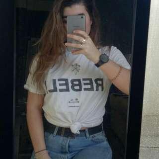 Sam's Rebellion White Shirt
