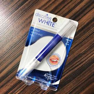Dazzling white instant teeth whitening pen