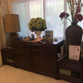 Premium rose wood cabinets and drawers