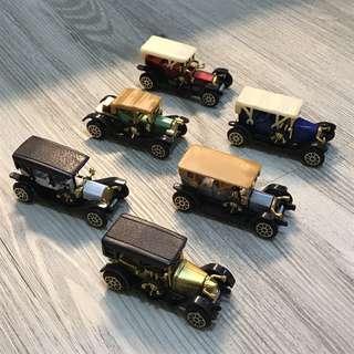 Vintage Cars一套6架