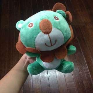Green Lion Stuffed Animal