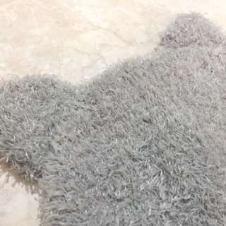grey cat-ear beanie