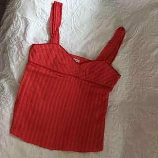 Cacheral 紅色吊帶背心